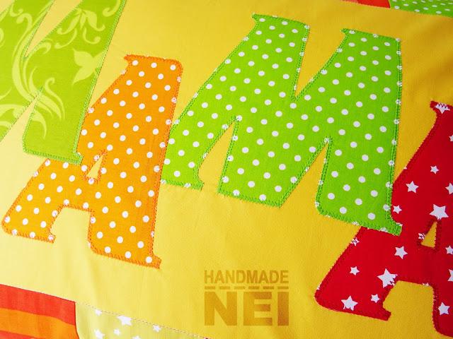 """Пачуърк калъфка за възглавница """"Мама""""4 - Handmade Nel"""