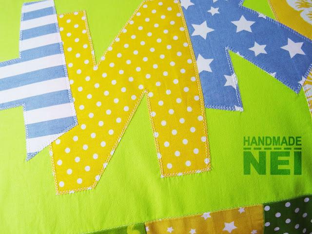 """Пачуърк калъфка за възглавница """"Ники"""" - Handmade Nel"""