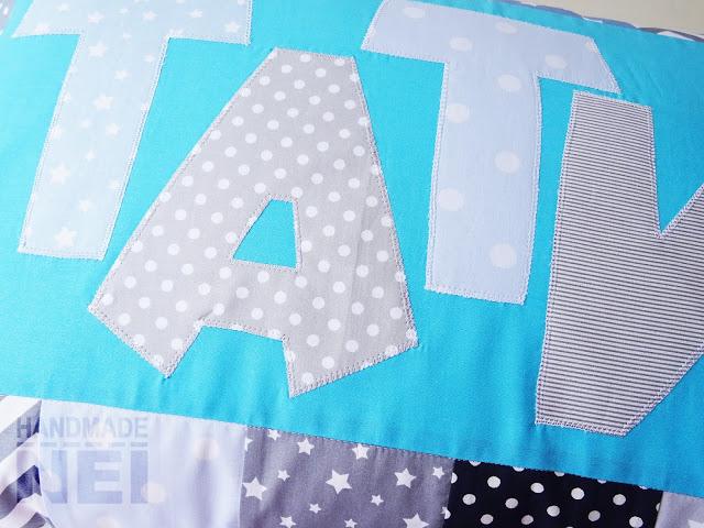 "Пачуърк калъфка за възглавница ""Тати"" - Handmade Nel"