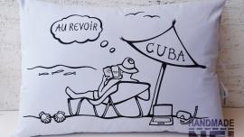 """Рисувана калъфка за възглавница """"Куба"""""""