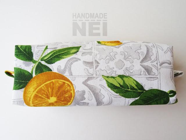 """Голям несесер за етерични масла """"Лимони"""" - Handmade Nel"""