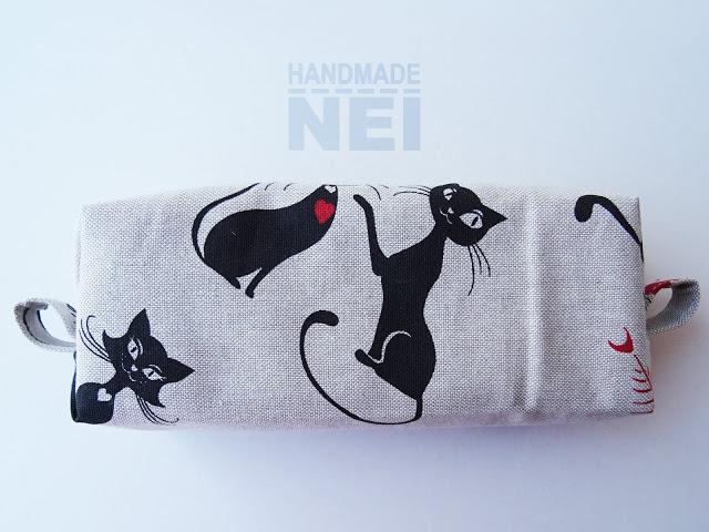 "Голям несесер за етерични масла ""Котки"" - Handmade Nel"