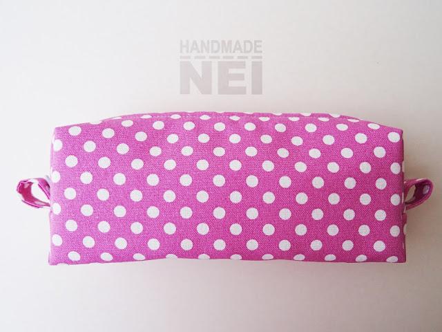 """Голям несесер за етерични масла """"Розово на точки"""" - Handmade Nel"""