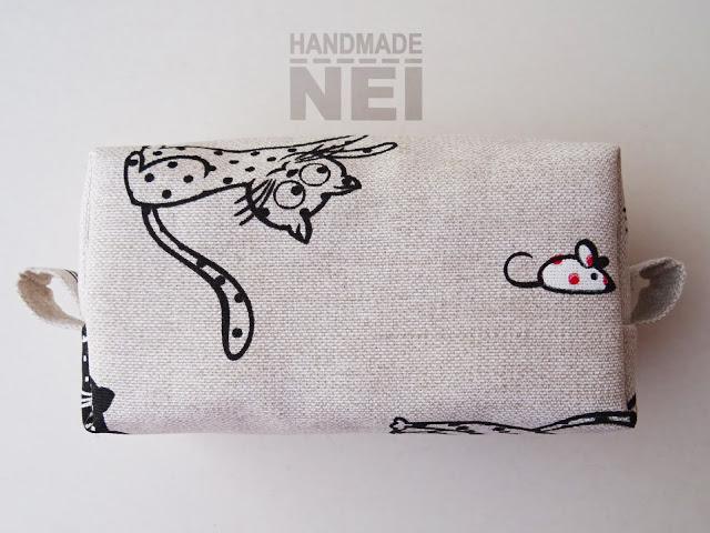 "Среден несесер за етерични масла ""Котета"" - Handmade Nel"