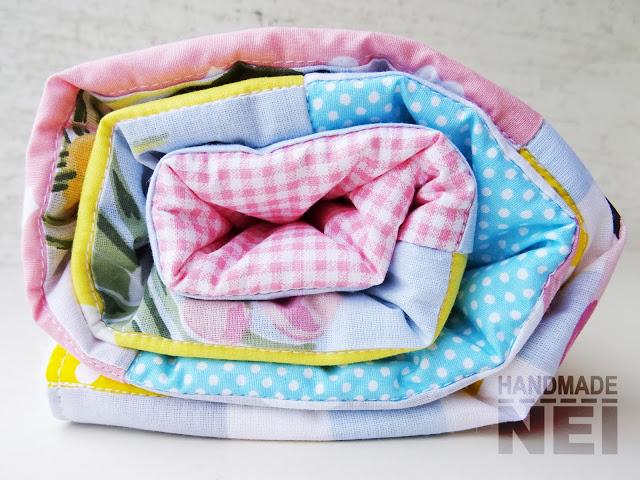 """Пачуърк одеяло с полар за бебе """"Фламинго"""" - Handmade Nel"""