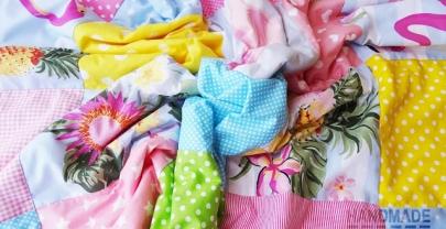 "Пачуърк одеяло с полар за бебе ""Фламинго"""