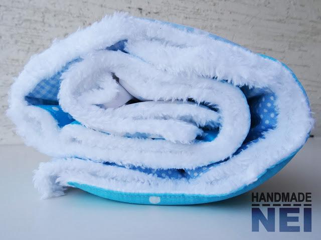 """Пачуърк одеяло с полар за бебе """"Никола"""" - Handmade Nel"""