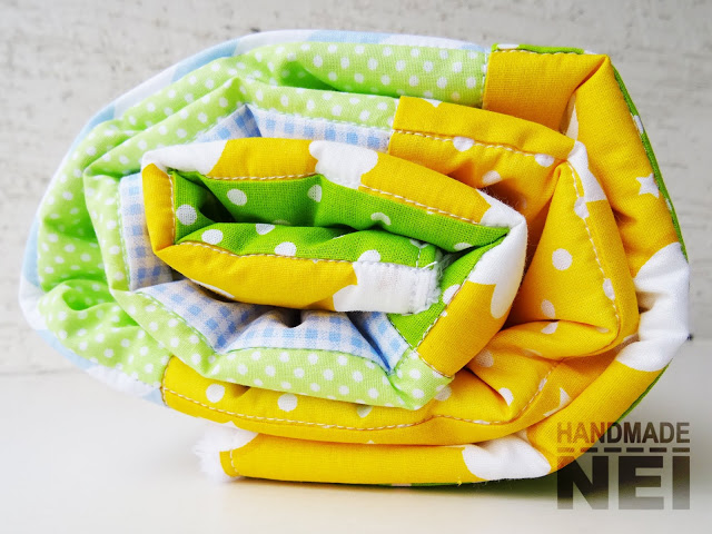 """Пачуърк одеяло с полар за бебе """"Велизар"""" - Handmade Nel"""