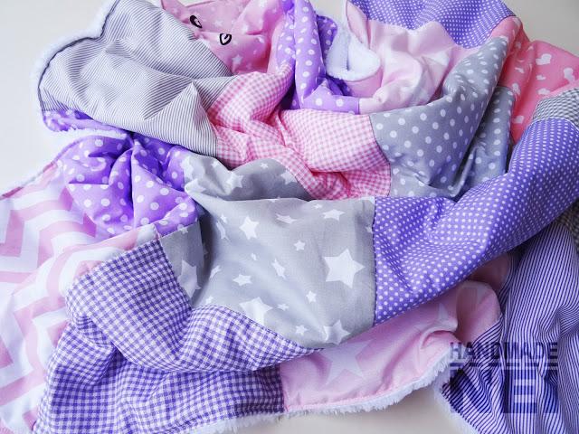 """Пачуърк одеяло с полар за бебе """"Кая"""" - Handmade Nel"""
