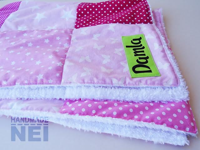 """Пачуърк одеяло с полар за бебе """"Damla"""" - Handmade Nel"""