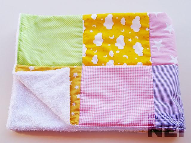 """Пачуърк одеяло с полар за бебе """"Лора"""" - Handmade Nel"""
