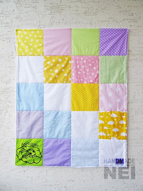 """Пачуърк одеяло с полар за бебе """"Антония"""" - Handmade Nel"""