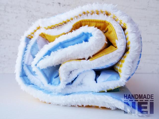 """Пачуърк одеяло с полар за бебе """"Димитър"""" - Handmade Nel"""