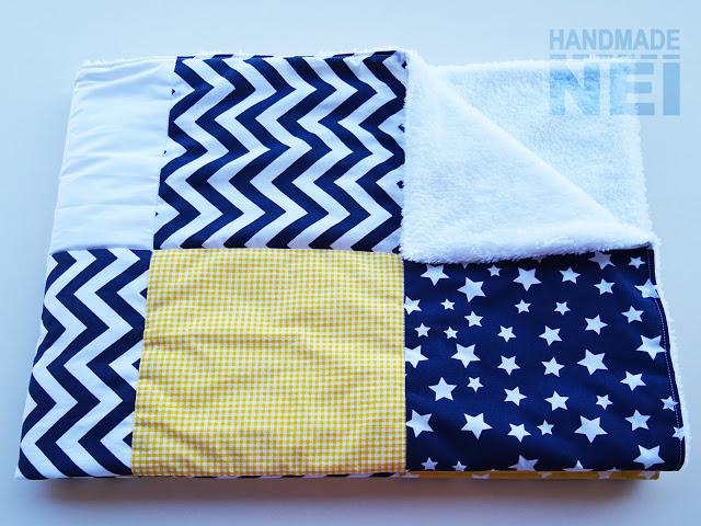 """Пачуърк одеяло с полар за бебе """"Макс"""" - Handmade Nel"""