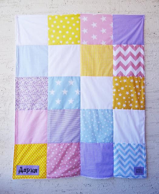 """Пачуърк одеяло с полар за бебе """"Дария"""" - Handmade Nel"""