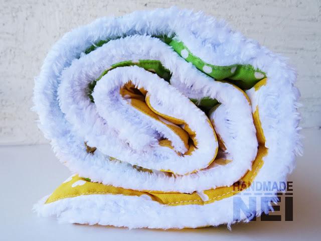 "Пачуърк одеяло с полар за бебе ""Елена"" - Handmade Nel"