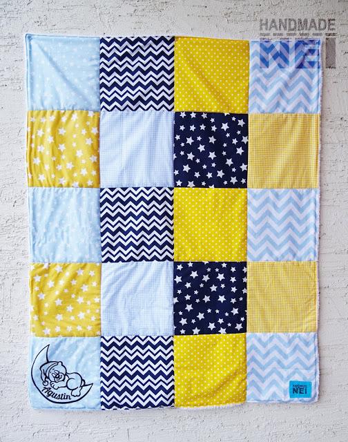 """Пачуърк одеяло с полар за бебе """"Августин"""" - Handmade Nel"""