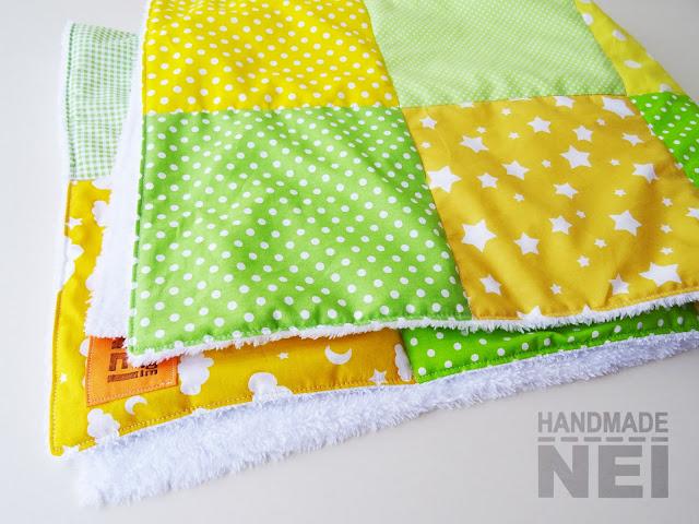 """Пачуърк одеяло с полар за бебе """"Емма"""" - Handmade Nel"""