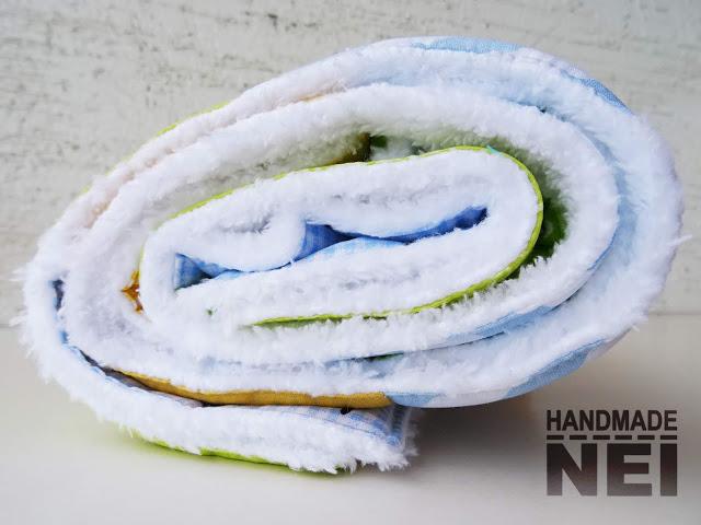 """Пачуърк одеяло с полар за бебе """"Ноа"""" - Handmade Nel"""