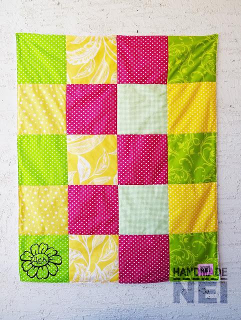 """Пачуърк одеяло с полар за бебе """"Деа"""" - Handmade Nel"""