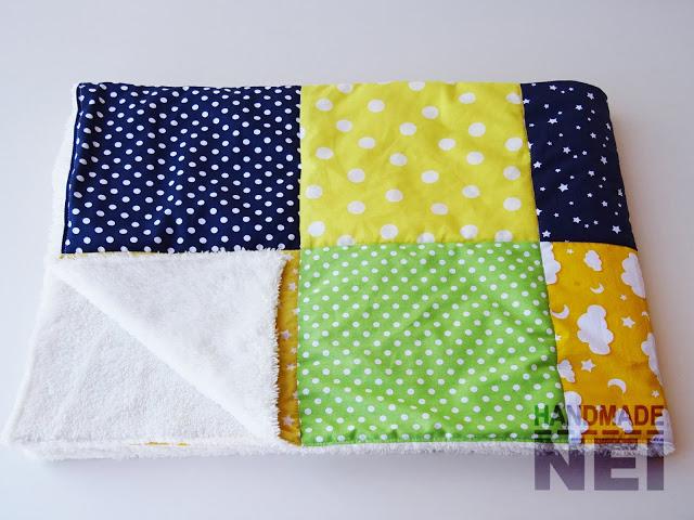 """Пачуърк одеяло с полар за бебе """"Фил"""" - Handmade Nel"""