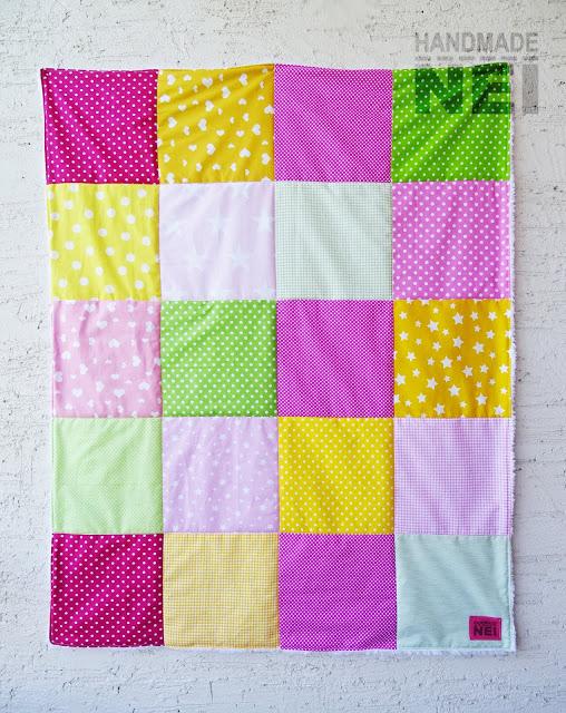 "Пачуърк одеяло с полар за бебе ""Бонбон"" - Handmade Nel"