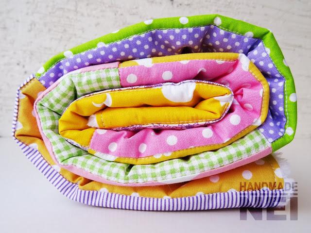 """Пачуърк одеяло с полар за бебе """"Йоана"""" - Handmade Nel"""