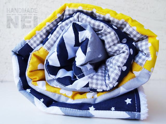 """Пачуърк одеяло с полар за бебе """"Павел"""" - Handmade Nel"""
