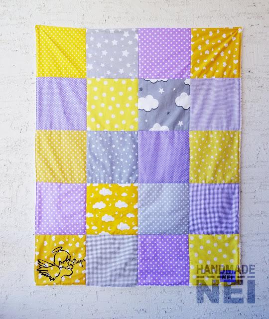 """Пачуърк одеяло с полар за бебе """"Вяра"""" - Handmade Nel"""