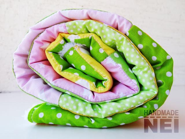 """Пачуърк одеяло с полар за бебе """"Мелис"""" - Handmade Nel"""