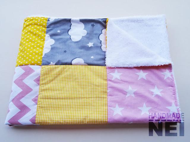 "Пачуърк одеяло с полар за бебе ""Валерия"" - Handmade Nel"