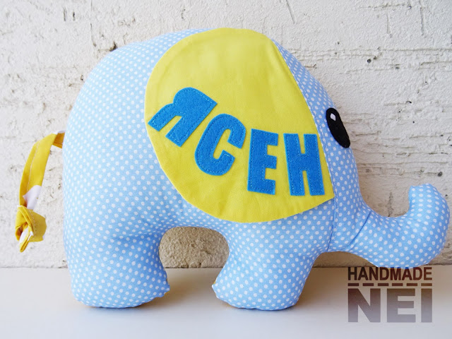 "Играчка слонче ""Ясен"" - Handmade Nel"