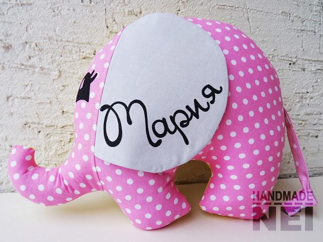 "Играчка слонче ""Мария"" - Handmade Nel"