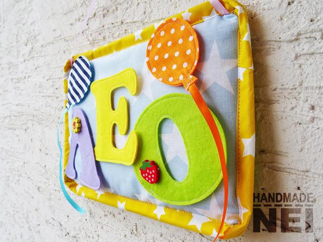 "Табелка за име от плат ""Лео"" - Handmade Nel"