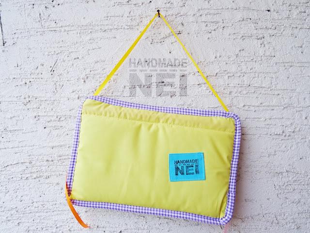"""Табелка за име от плат """"Liam"""" - Handmade Nel"""