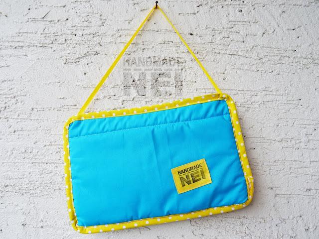 """Табелка за име от плат """"Микаел"""" - Handmade Nel"""