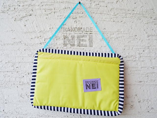 """Табелка за име от плат """"Никола"""" - Handmade Nel"""