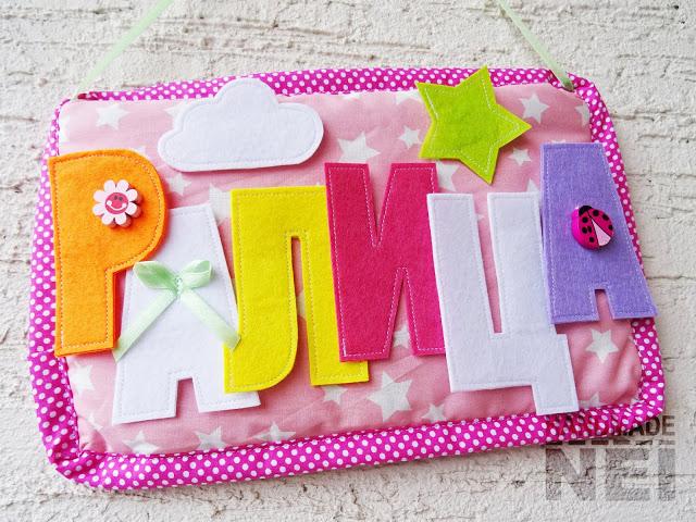 "Табелка за име от плат ""Ралица"" - Handmade Nel"