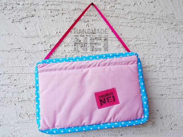 "Табелка за име от плат ""Вики""2 - Handmade Nel"