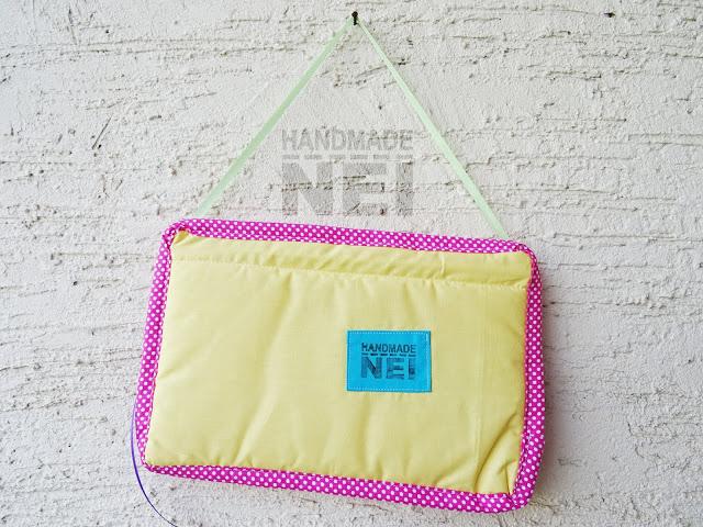 "Табелка за име от плат ""Вики"" - Handmade Nel"
