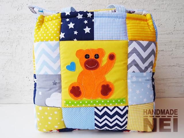 "Кош за играчки от плат ""Алекс""2 - Handmade Nel"