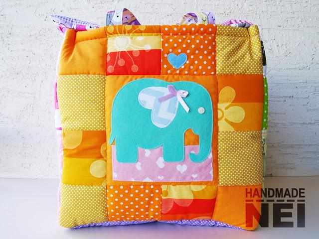 """Кош за играчки от плат """"Амая"""" - Handmade Nel"""