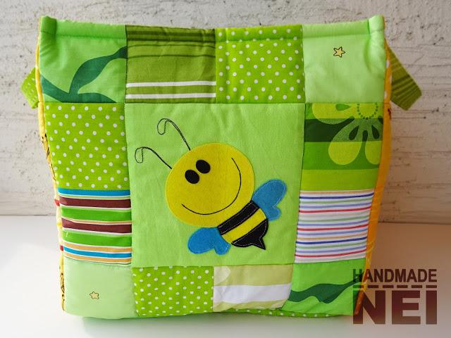 """Кош за играчки от плат """"Пчелички"""" - Handmade Nel"""