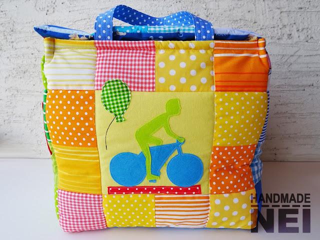 "Кош за играчки от плат ""Боби"" - Handmade Nel"