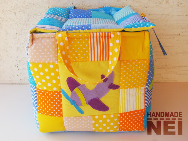 """Кош за играчки от плат """"Дани""""3 - Handmade Nel"""