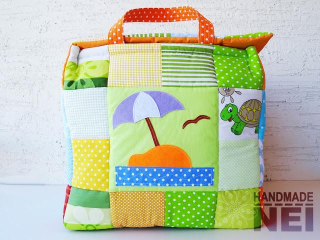 "Кош за играчки от плат ""Деан"" - Handmade Nel"