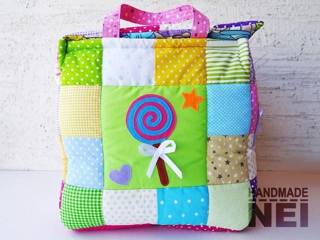 """Кош за играчки от плат """"Десислава"""" - Handmade Nel"""