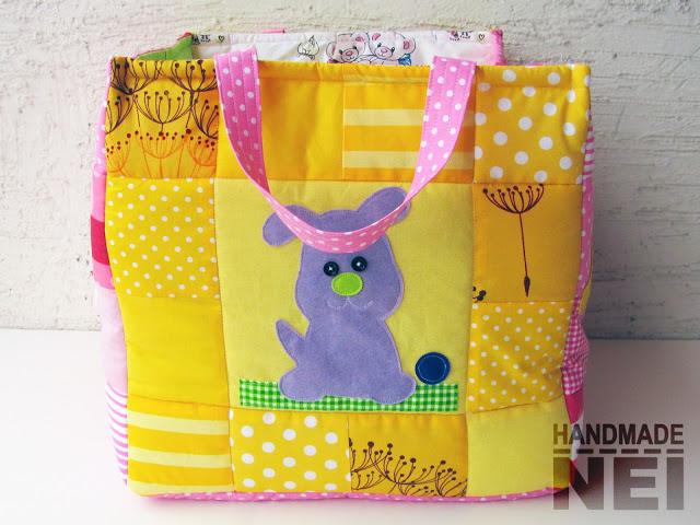 """Кош за играчки от плат """"Донна"""" - Handmade Nel"""