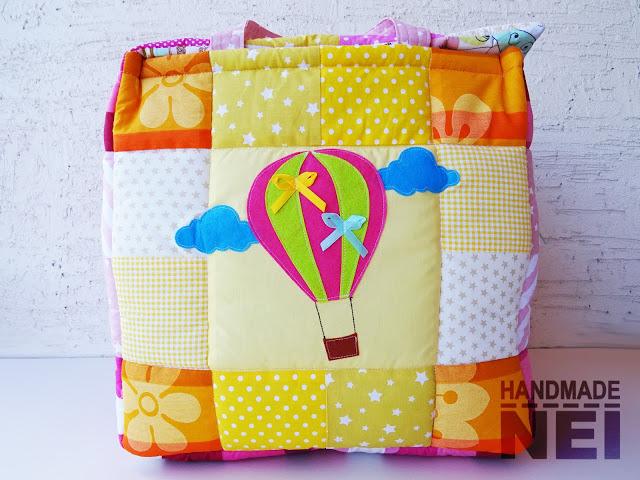"""Кош за играчки от плат """"Ели"""" - Handmade Nel"""