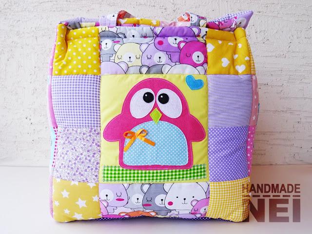 """Кош за играчки от плат """"Елис"""" - Handmade Nel"""